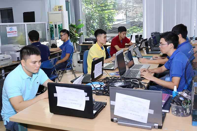 phòng kỹ thuật sửa máy tính tại nhà